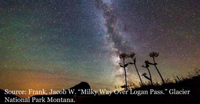 Milky Way over Logan Pass